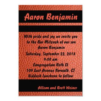 Band-Bar Mitzvah Einladungs-Orange 8,9 X 12,7 Cm Einladungskarte