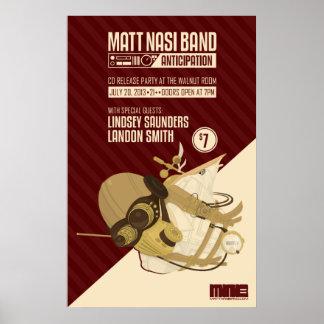 Band-Dampf-Punk-Plakat Matts Nasi Poster