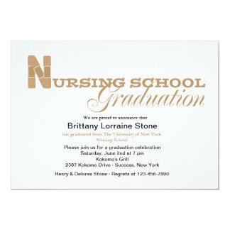 Band-Helferkrankenpflege-SchulAbschluss-Einladung 12,7 X 17,8 Cm Einladungskarte