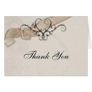 Band-Herz danken Ihnen Champagne Karte