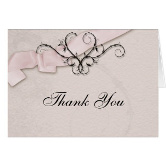 Band-Herz danken Ihnen rosa Karte