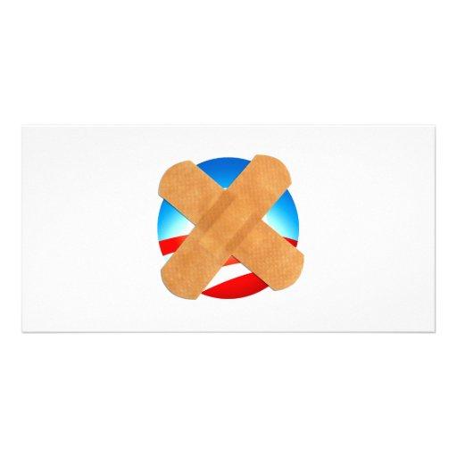 Band-Hilfe nein zu Obamascare Individuelle Foto Karten
