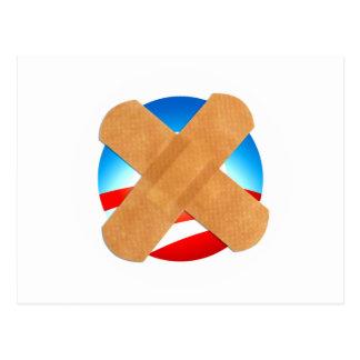 Band-Hilfe nein zu Obamascare Postkarte