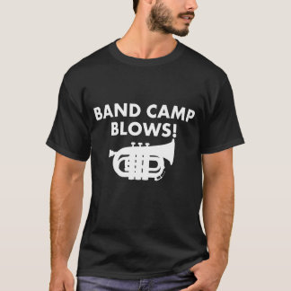 Band-Lager brennt lustigen Tuba-Musik-T - Shirt