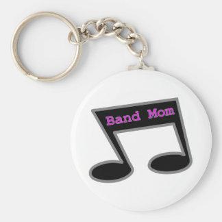 Band-Mamma-Musik-Anmerkung Standard Runder Schlüsselanhänger