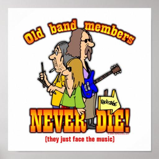 Band-Mitglieder Posterdruck