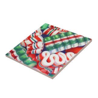 Band-Süßigkeit Kleine Quadratische Fliese