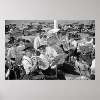 Band und klassische Autos, Dreißigerjahre Poster