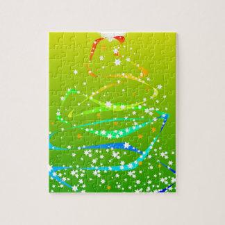 Band-und Stern-Weihnachtsbaum Puzzle