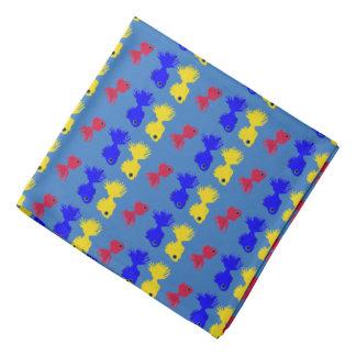 Bandana fischt blaues gelbes Rot Kopftuch