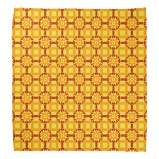 Bandana geometrische 318 rot u. Gold Halstuch