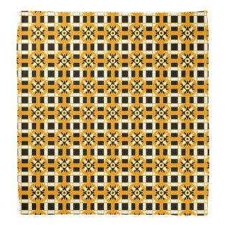 Bandana-geometrisches Schwarzes 318 Kopftuch