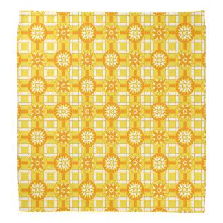 Bandana-goldenes Gelb geometrische 318 Halstuch