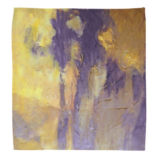 Bandana in Lila und im Gold Halstuch