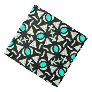 Bandana Jimette Design blaues und weißes auf Halstuch