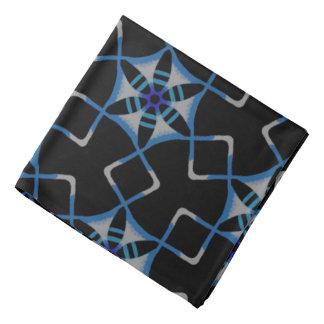 Bandana Jimette Design blaues und weißes auf Kopftuch
