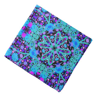 Bandana Jimette Design blaues violette schwarze Kopftuch