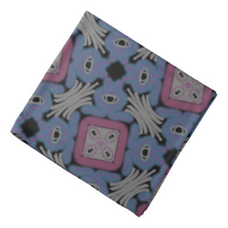 Bandana Jimette Design rosiges weißes und blaues Halstuch