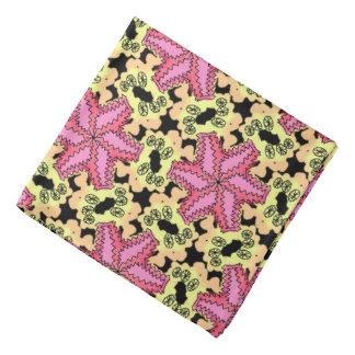 Bandana Jimette Entwurf orange und rosa mit Halstuch