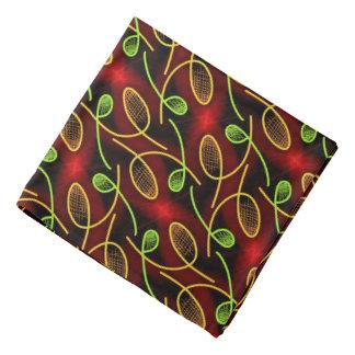 Bandana Jimette rotes und schwarzes Design Halstuch