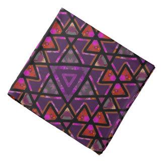 Bandana Jimette violettes und schwarzes Design Halstuch