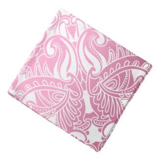 Bandana-rosa und weißes Paisley Halstuch