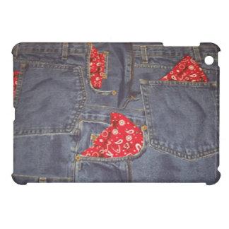 Bandana verblaßte Denim-Jeans-Druck-Auflage-Minika Hülle Für iPad Mini