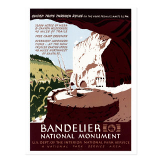 Bandelier nationales Monument Postkarte