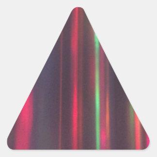 Bänder des Lichtes Dreieckiger Aufkleber