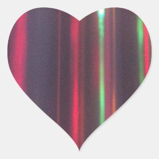 Bänder des Lichtes Herz-Aufkleber