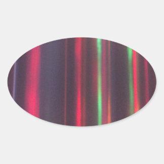 Bänder des Lichtes Ovaler Aufkleber