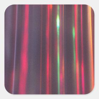 Bänder des Lichtes Quadratischer Aufkleber
