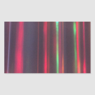 Bänder des Lichtes Rechteckiger Aufkleber