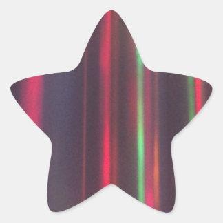 Bänder des Lichtes Stern-Aufkleber