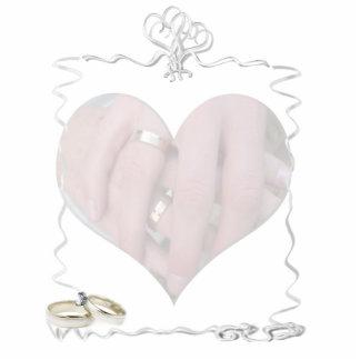 Bänder u. Ringe mit Hochzeits-Paaren Photoausschnitte