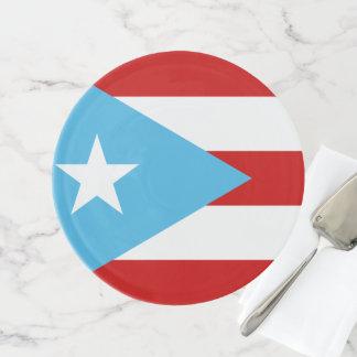 Bandera Celeste Puerto Rico Tortenplatte