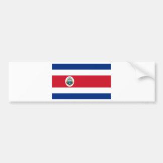 Bandera De Costa Rica - Flagge von Costa Rica Autoaufkleber