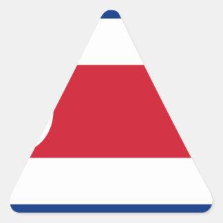 Bandera De Costa Rica - Flagge von Costa Rica Dreieckiger Aufkleber