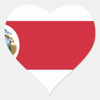 Bandera De Costa Rica - Flagge von Costa Rica Herz-Aufkleber