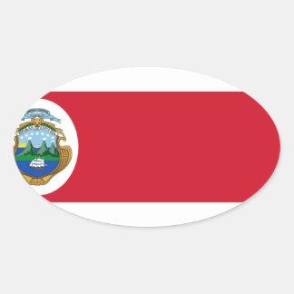 Bandera De Costa Rica - Flagge von Costa Rica Ovaler Aufkleber