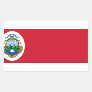 Bandera De Costa Rica - Flagge von Costa Rica Rechteckiger Aufkleber