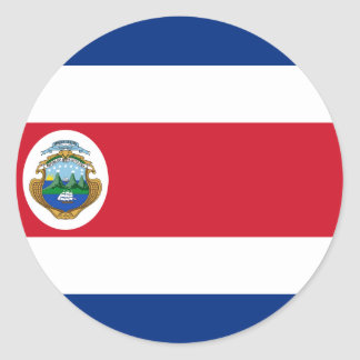 Bandera De Costa Rica - Flagge von Costa Rica Runder Aufkleber