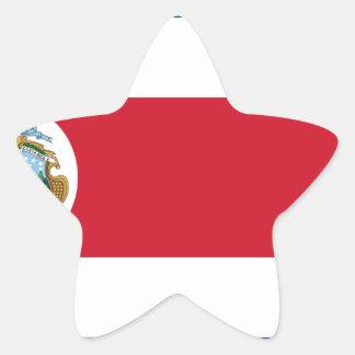 Bandera De Costa Rica - Flagge von Costa Rica Stern-Aufkleber