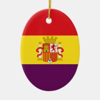 Bandera de la República Española Ovales Keramik Ornament