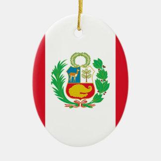Bandera Del Perú - Flagge von Peru Keramik Ornament
