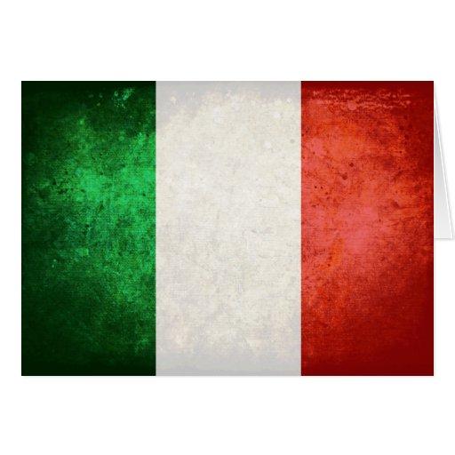 bandiera Italien Grußkarte