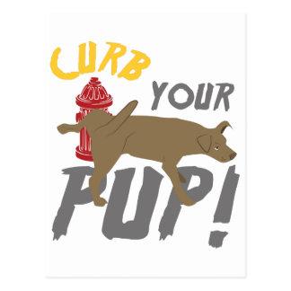 Bändigen Sie Ihren Welpen Postkarte