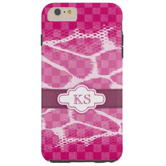 Bandmonogramm iphone Kasten des heißen Rosas lila Tough iPhone 6 Plus Hülle