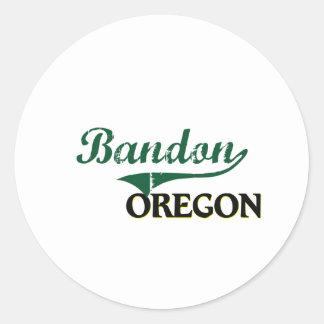 Bandon Oregon klassischer Entwurf Runder Aufkleber