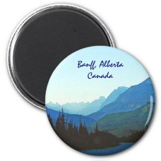 Banff-Jaspis-Blau Runder Magnet 5,7 Cm